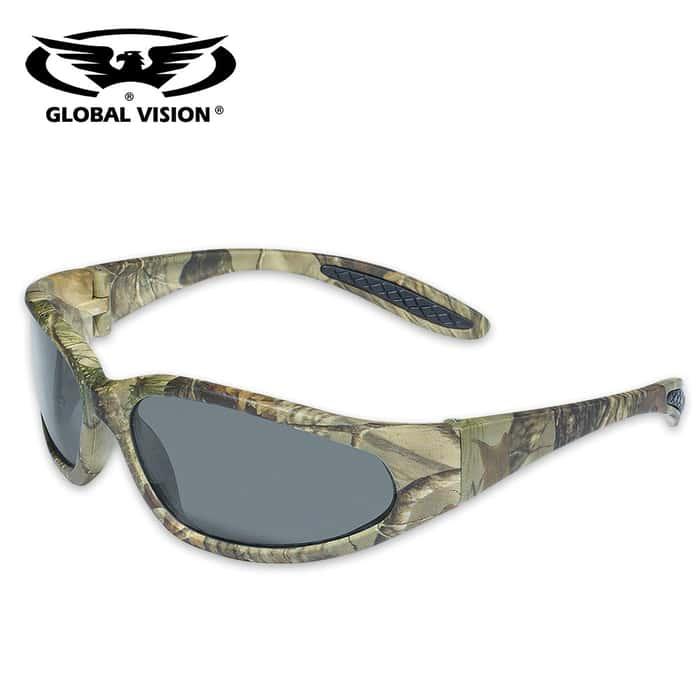 Global Vision Matte Camo Safety Sunglasses - Smoke