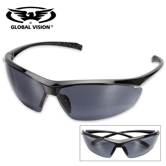 Global Vision Lieutenant Military Ballistic Safety Sunglasses - Smoke