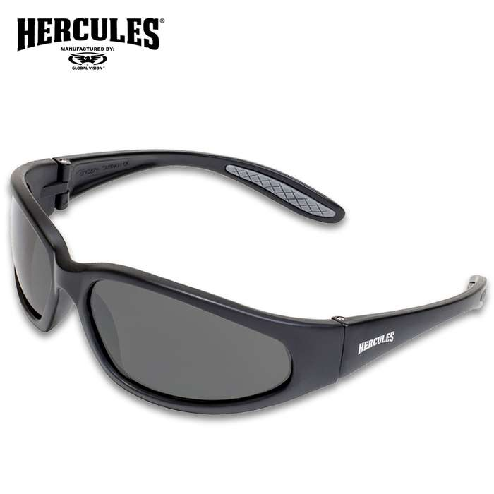If you're looking for the ultimate eye protection when you're out riding, the Hercules 1 Plus Smoked Motorcycle Sunglasses are it
