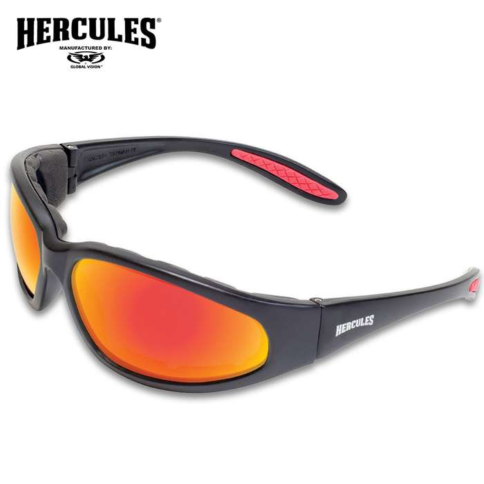 Our Hercules 1 Plus Red G-Tech Motorcycle Sunglasses meet ANSI Z87.1-2010 standards for use in industrial applications