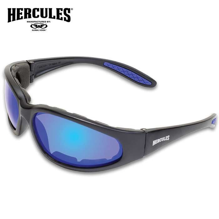Our Hercules 1 Plus Blue G-Tech Motorcycle Sunglasses feature a double-sided anti-fog coating and maximum UV protection