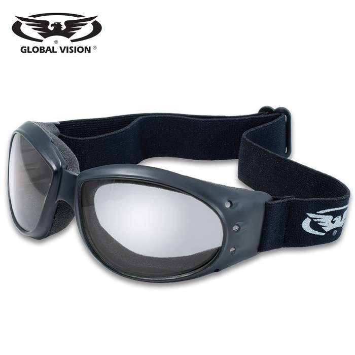 Our Global Vision Eliminator Clear Motorcycle Goggles are the perfect accessory for your motorcycle