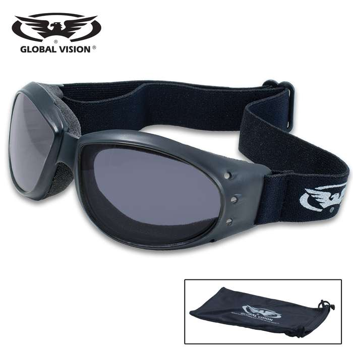 The Global Vision Eliminator Smoked Motorcycle Goggles are the perfect accessory for your motorcycle