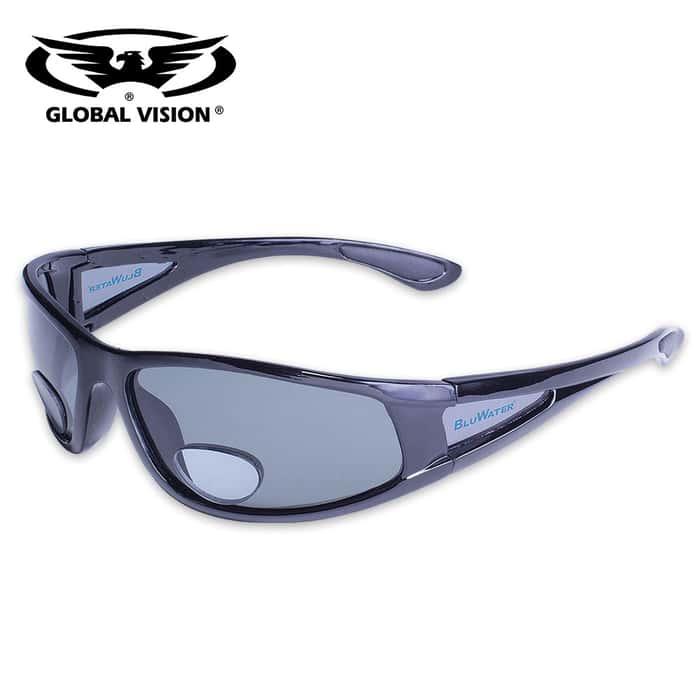 BluWater Polarized Bifocal Sunglasses - Gray
