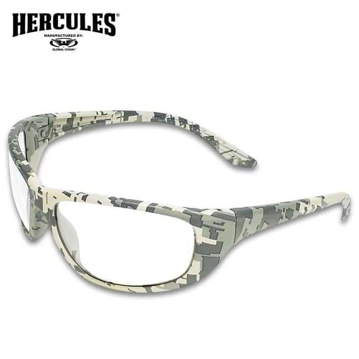 Our Hercules 6 Digital Camo Ballistic Sunglasses meet MIL-PRF-32432 Military Ballistic Standards