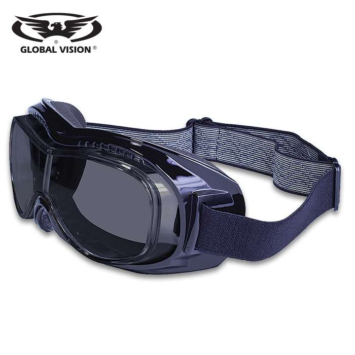 Our Global Vision Mach 1 Motorcycle Goggles feature soft, molded foam, which is indented to fit the temples of prescription eyewear