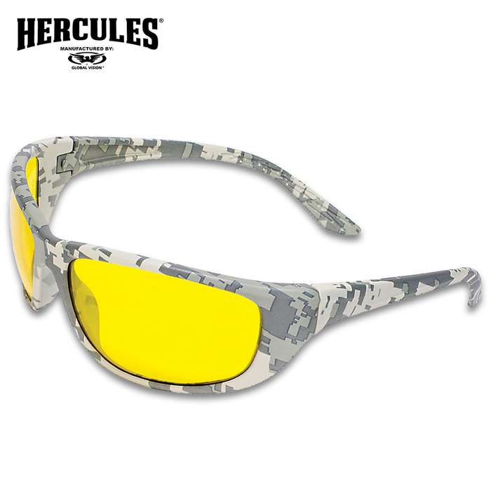 Our Hercules 6 Digital Camo Ballistic Sunglasses are sturdy and lightweight, offering you a comfortable day of shooting out at the range