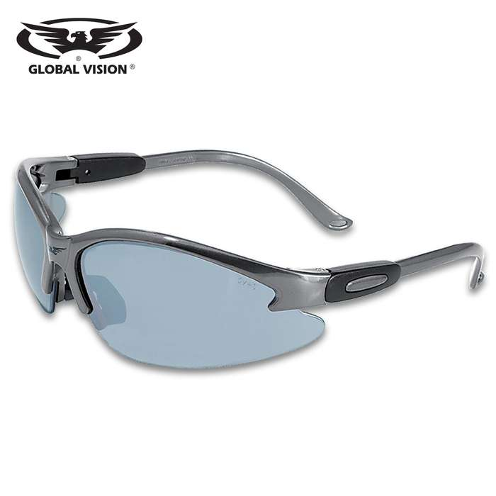 Our Global Vision Cougar Grey Safety Sunglasses are the perfect, great-looking accessory for your motorcycle
