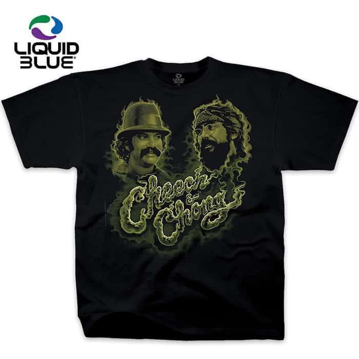 Cheech And Chong Green Smoke T-Shirt