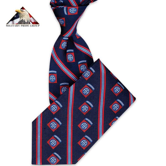 82ND Airborne Silk Tie