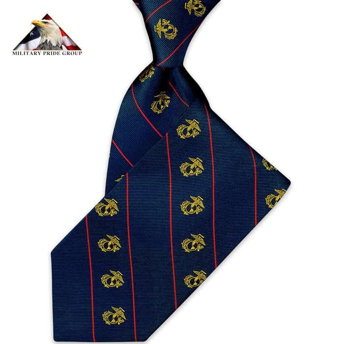 United States Marines Silk Tie
