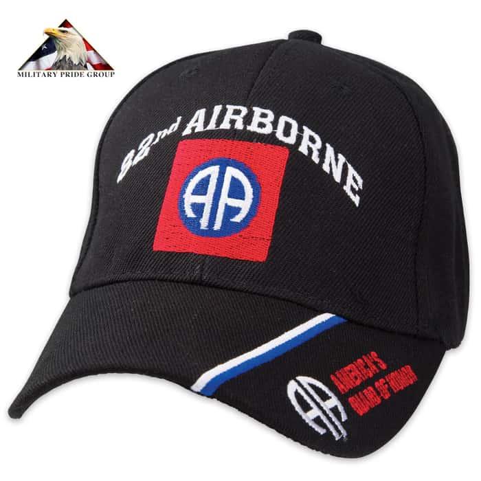 82ND Airborne Cap - Black Hat