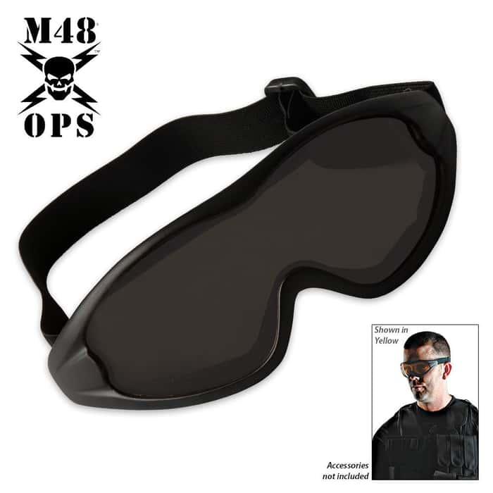 M48 Gear Military Tactical Anti Fog Shatterproof Goggles Black
