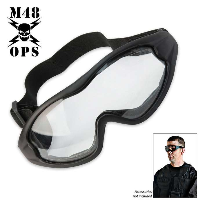 M48 Gear Military Tactical Anti Fog Shatterproof Goggles White