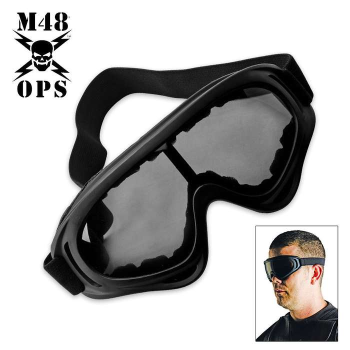 M48 Gear Tactical Wind Goggles Black