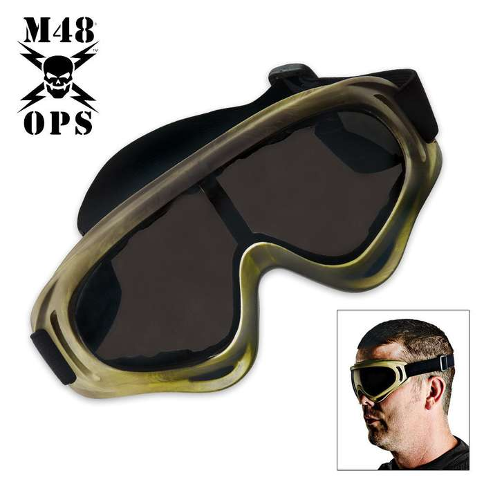 M48 Gear Tactical Wind Goggles Tan