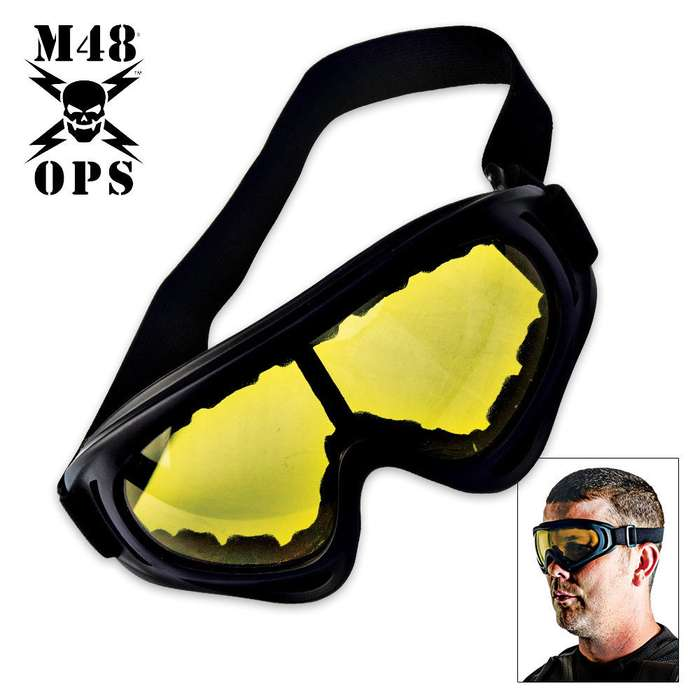 Tactical Wind Goggles Yellow