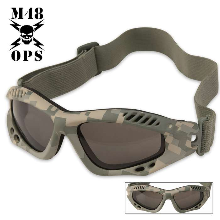 M48 OPS Tactical Goggles Army Digital Camo