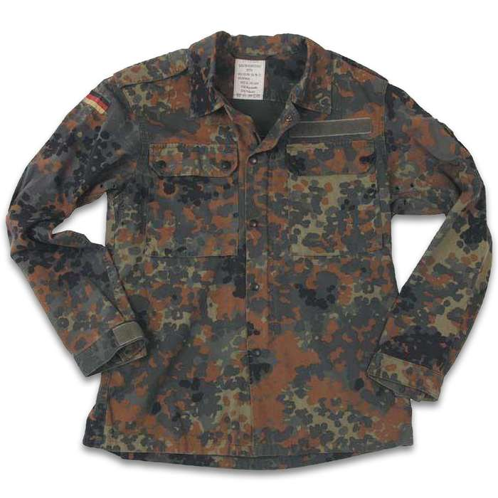 Standard issue BDU shirt for the German Armed Forces stands up to the most brutal weather and environmental conditions
