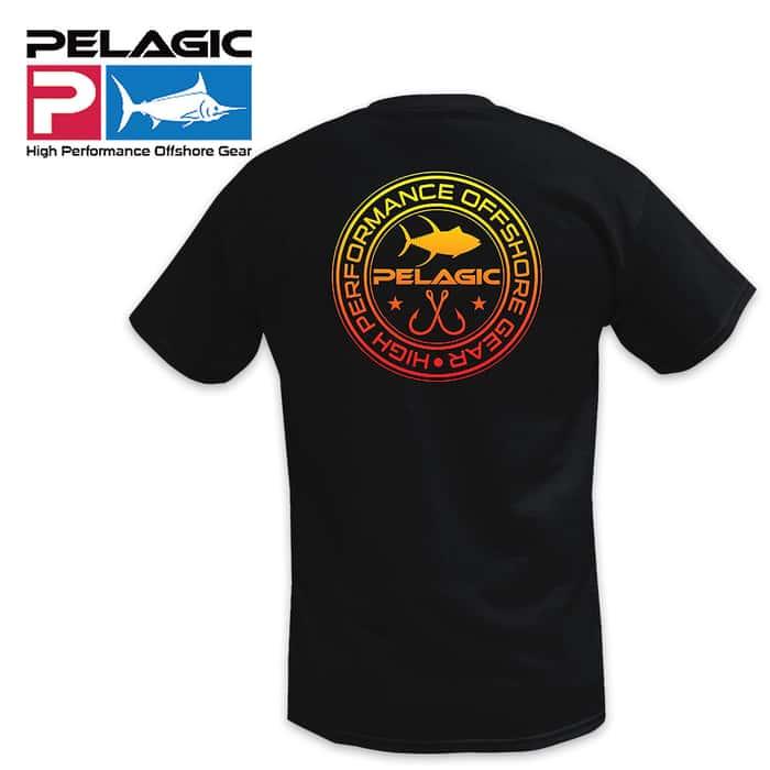 Pelagic Double Hookup Black Tee - Short-Sleeves