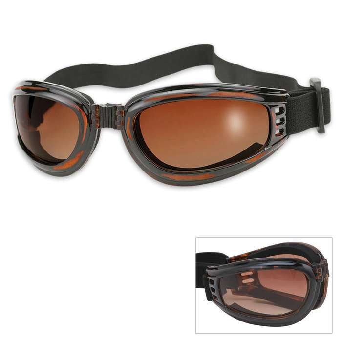Nomad Tortoise Frame Brown Len Folding Goggles