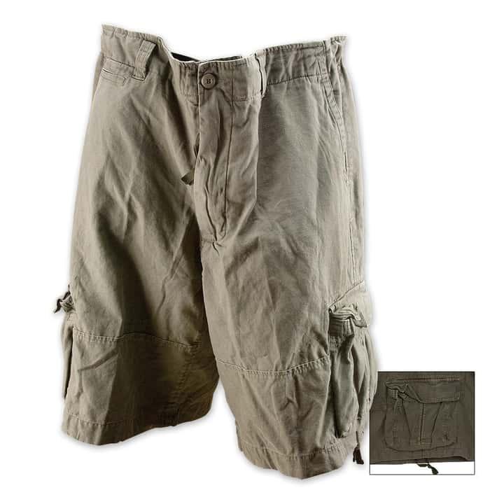 Vintage Infantry Utility Shorts Olive Drab