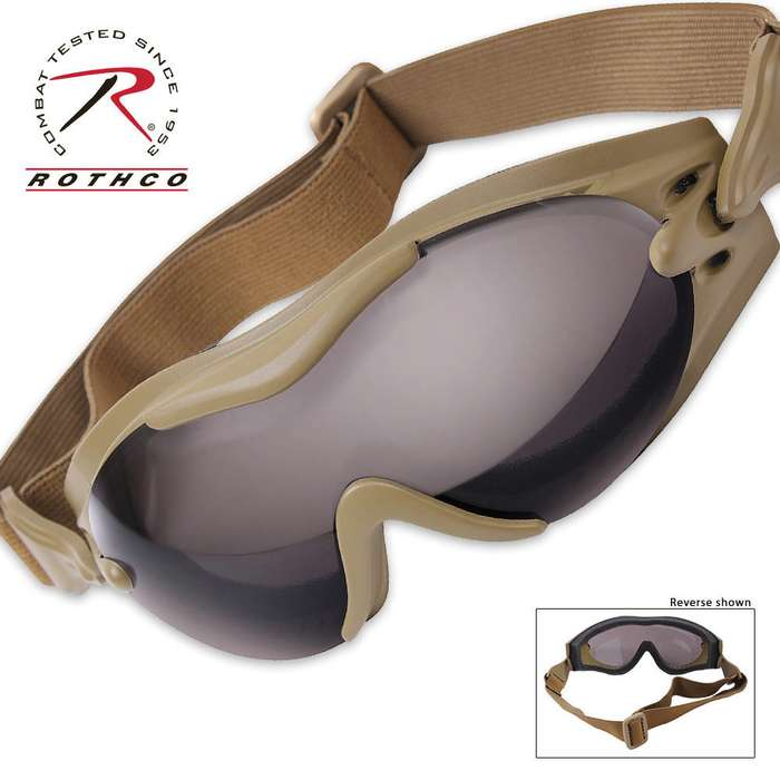 Rothco SWAT Tec Single Lens Tact Goggle Coyote