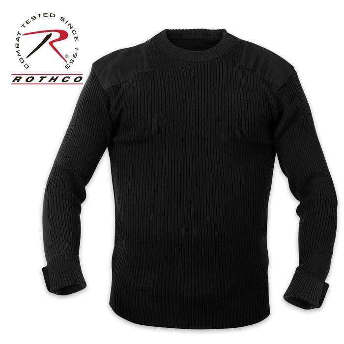 Rothco GI Style Acrylic Commando Sweater Black