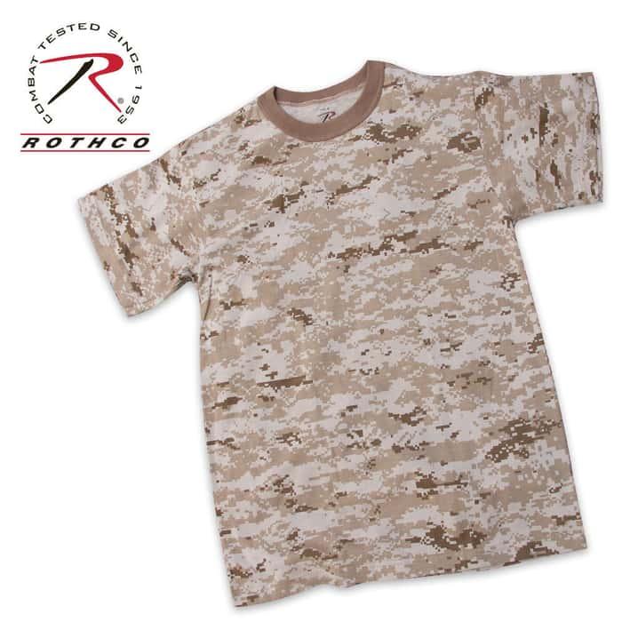 Military Camouflage T-Shirt Desert Digital Camo