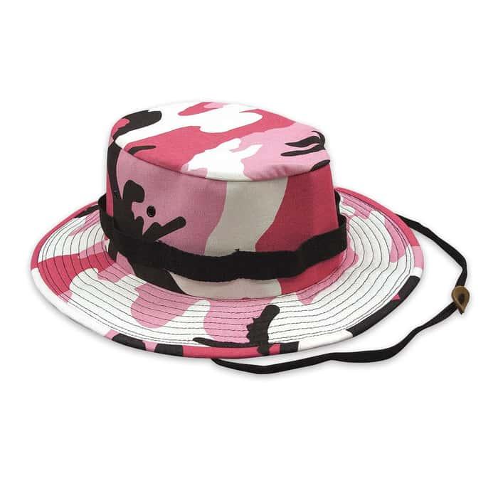 Boonie Hat Pink Camo