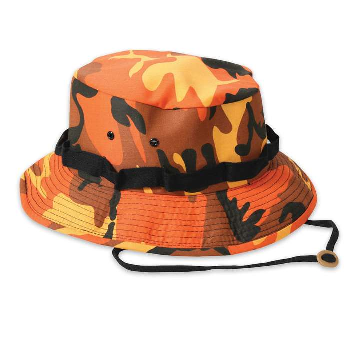 Boonie Hat Savage Orange Camo