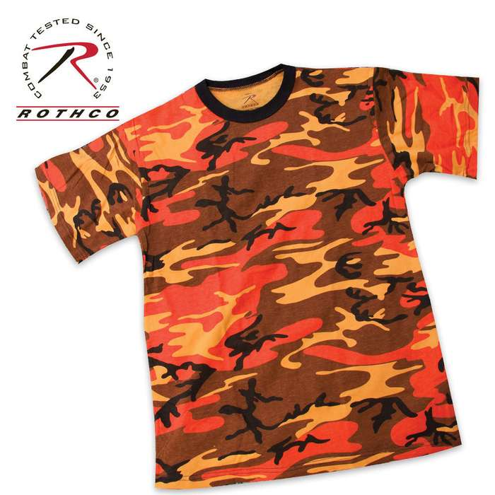 Rothco Orange Camo T Shirt