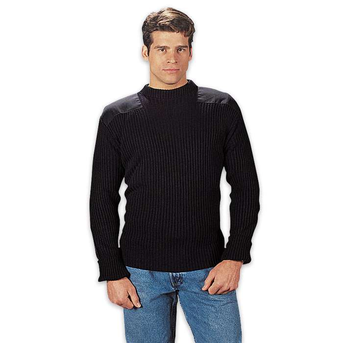 GI Style Commando Sweater Black