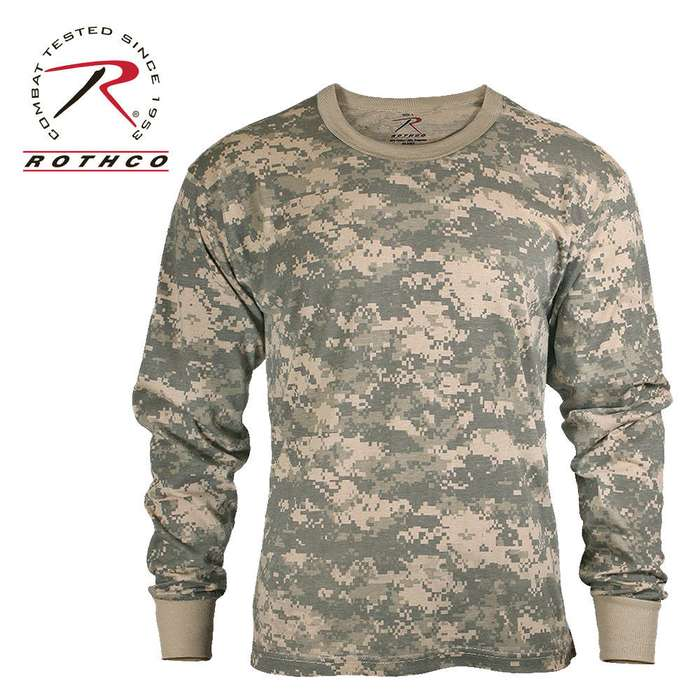 Rothco Long Sleeve T Shirt ACU Digital Camo Pattern