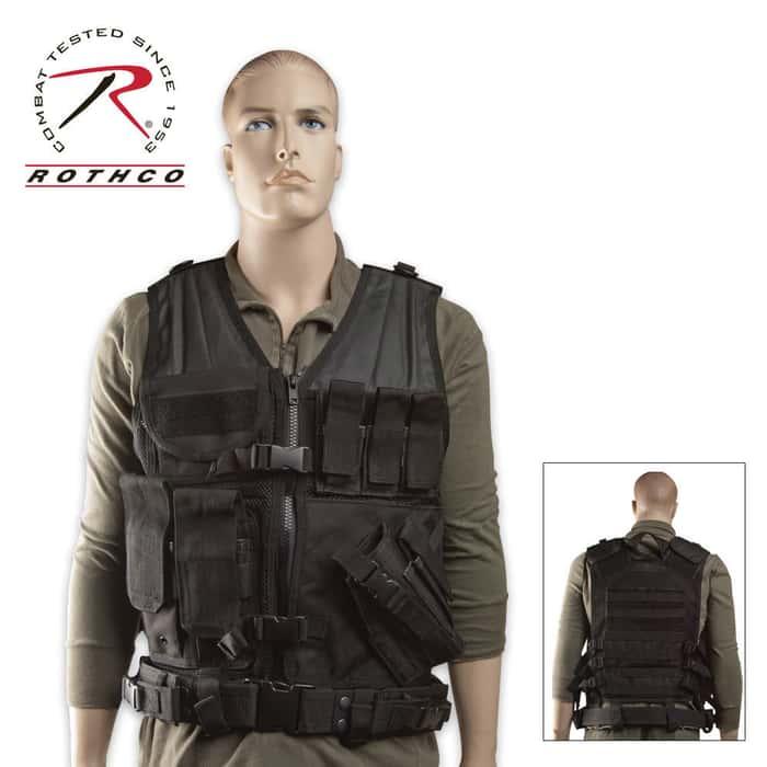M.O.L.L.E. Cross Draw Tactical Vest Black