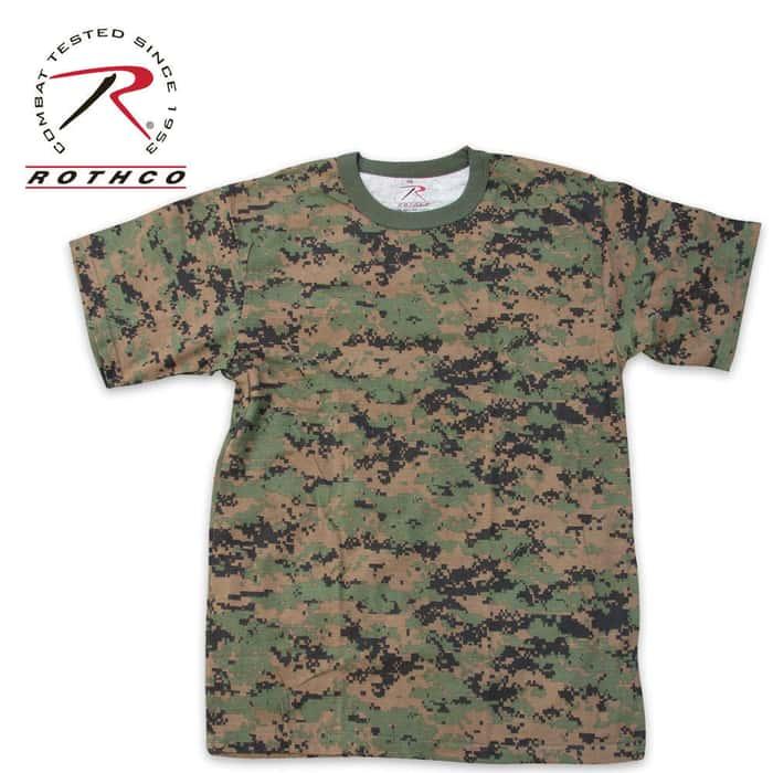Woodland Digital Camo Short Sleeve T-Shirt