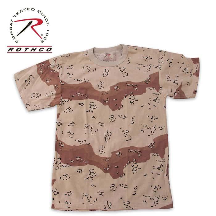 Military Camouflage T-Shirt Desert Camo