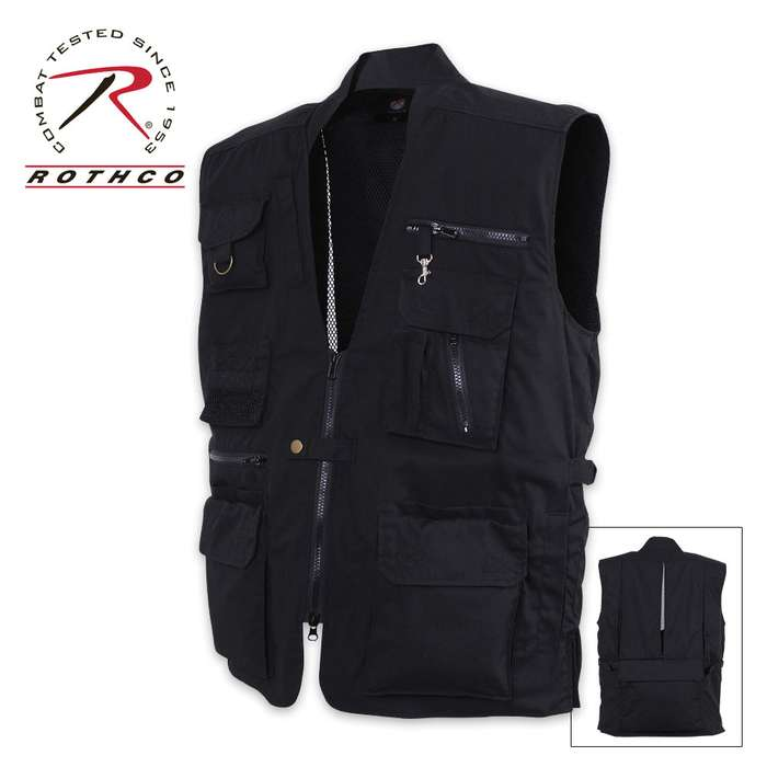 Rothco Plain Clothes Concealed Carry Vest Black