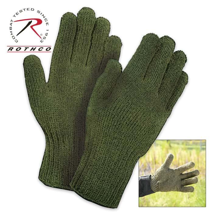 Rothco GI Glove Liners Olive Drab