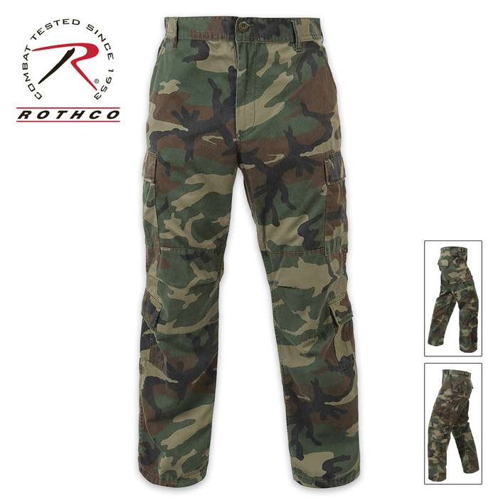 Vintage Paratrooper Fatigue Pants Camo