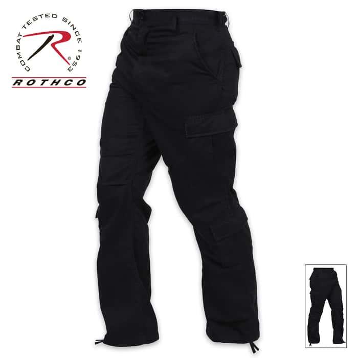 Vintage Paratrooper Fatigue Pants Black