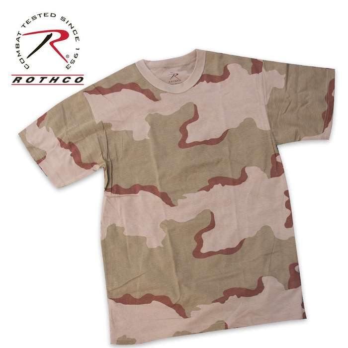 Military Camouflage T-Shirt Tri-Color Desert Camo