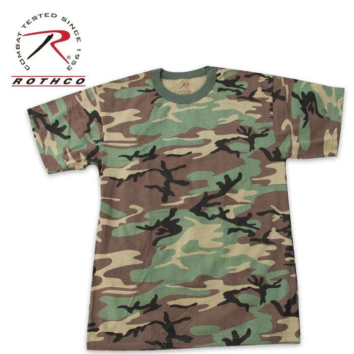 Rothcho Woodland Camo T Shirt