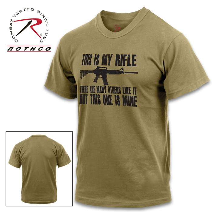 This Is My Rifle Short-Sleeved T-Shirt - Cotton-Polyester Blend, Tagless Neck Label, Black Printed Design
