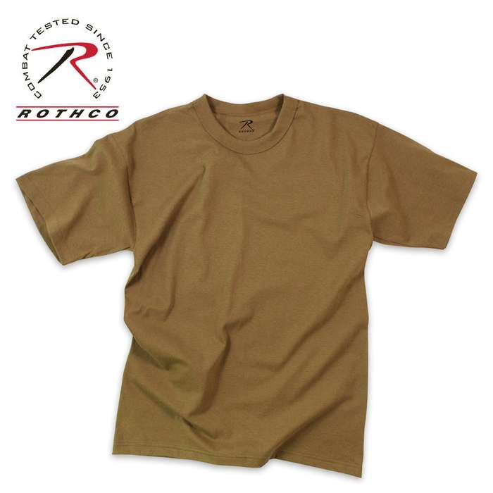Brown Moisture Wicking T-Shirt