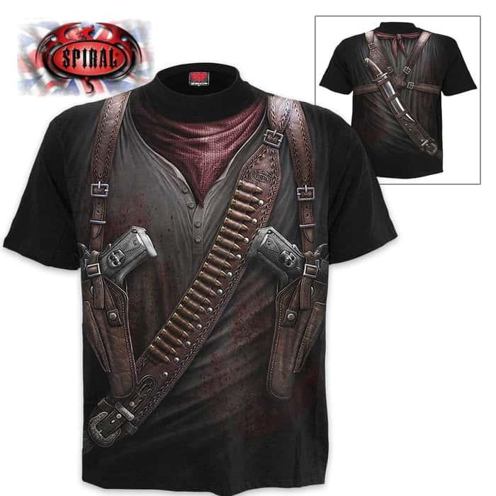 Black Holster Wrap - Allover T-Shirt