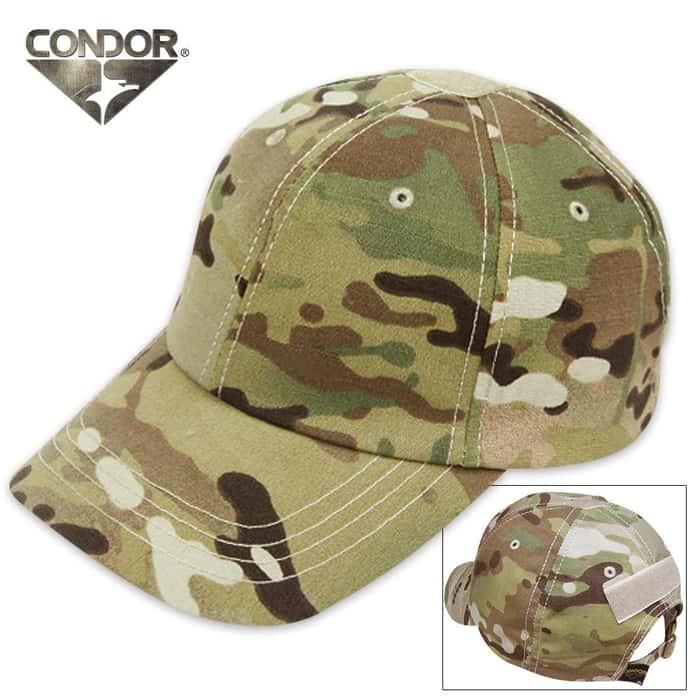 Condor Multicam Tactical Cap (W/ Loop Panel)