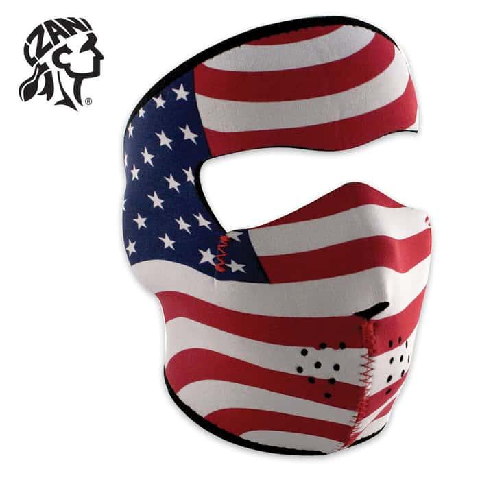 ZANheadgear Stars And Stripes Neoprene Facemask