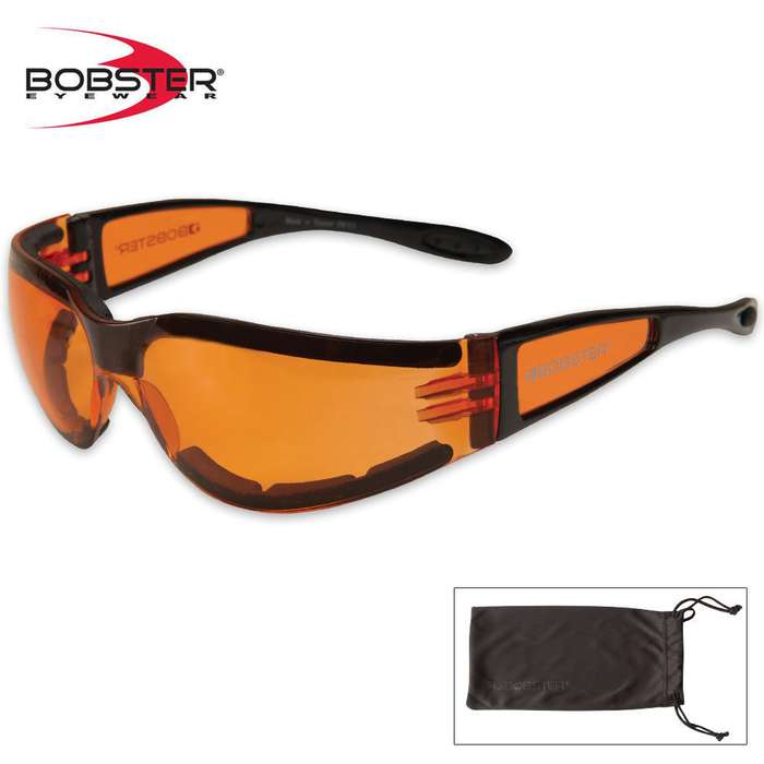 Bobster Shield II Sunglasses Amber/Black