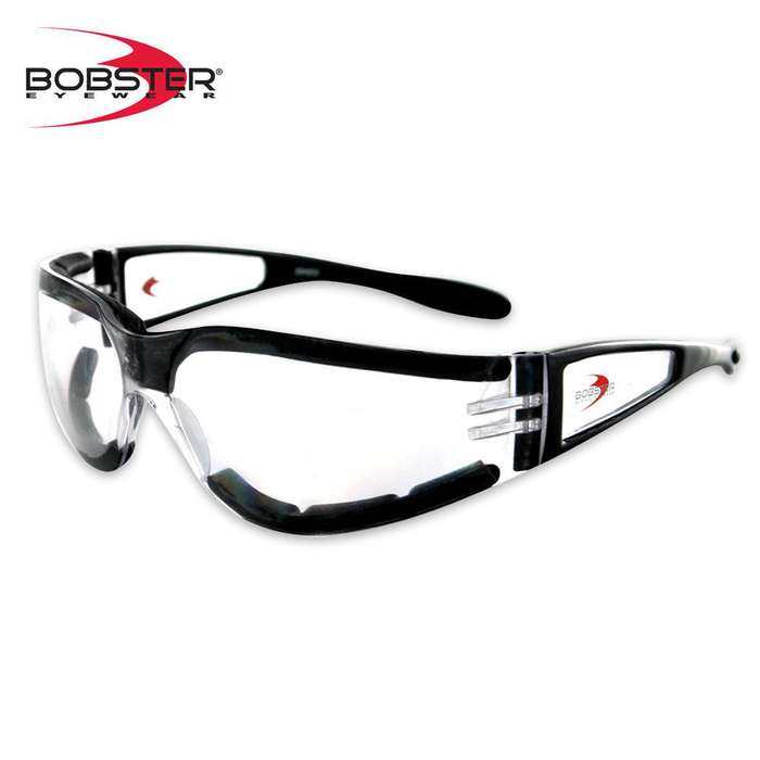 Bobster Shield II Sunglasses Clear/Black